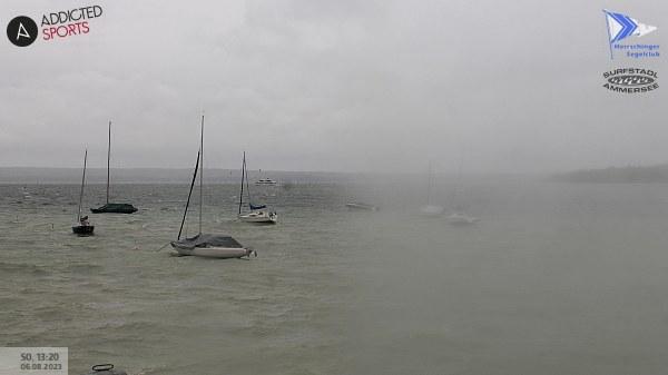 Webcam mit aktuellen Wetterdaten in der Herrschinger Bucht