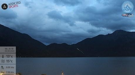Webcam-Blick von der Kristalltherme Trimini auf denHerzogstand